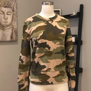 Madewell camouflage sweatshirt